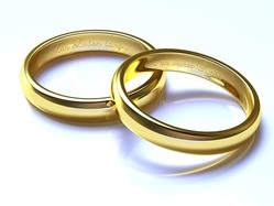 Pair of gold rings
