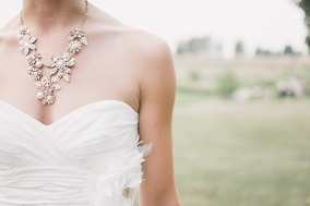 Bride wearing a necklace